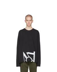 Camiseta de manga larga estampada negra de Moncler Genius