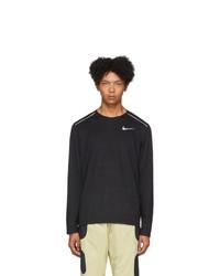 Camiseta de manga larga estampada negra de Nike