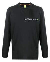 Camiseta de manga larga estampada negra de Paul Smith