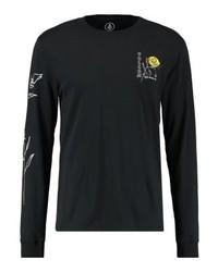 Camiseta de Manga Larga Estampada Negra de Volcom