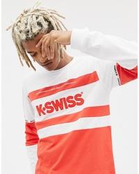 Camiseta de manga larga estampada roja de K-Swiss