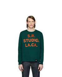Camiseta de manga larga estampada verde oscuro de S.R. STUDIO. LA. CA.