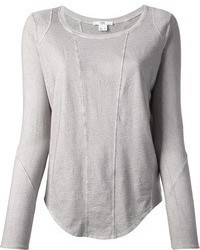 Camiseta de manga larga gris original 1286763