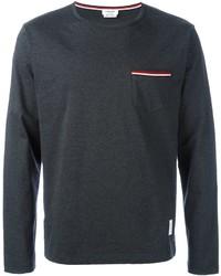 Camiseta de manga larga gris oscuro original 9727527