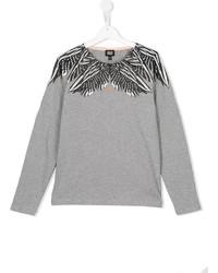 Camiseta de manga larga gris de Armani Junior