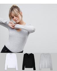 Camiseta de manga larga gris de ASOS DESIGN