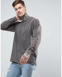 Camiseta de manga larga gris de Asos