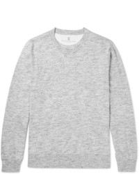 Camiseta de manga larga gris de Brunello Cucinelli