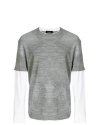 Camiseta de manga larga gris de DSQUARED2