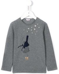 Camiseta de manga larga gris de Il Gufo
