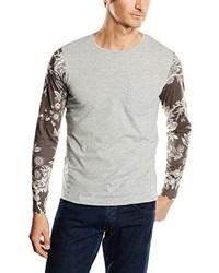Camiseta de manga larga gris de Jack & Jones
