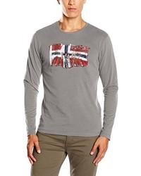 Camiseta de manga larga gris de Napapijri