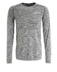 Camiseta de Manga Larga Gris de Nike