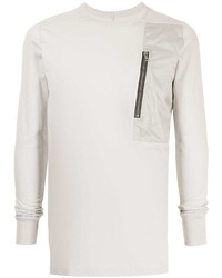 Camiseta de manga larga gris de Rick Owens