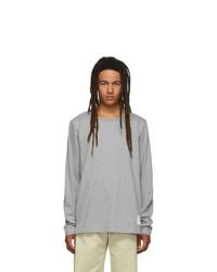 Camiseta de manga larga gris de Thom Browne