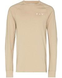 Camiseta de manga larga marrón claro de Off-White