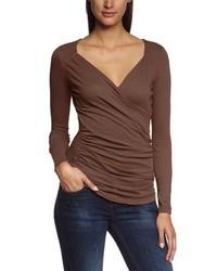 Camiseta de manga larga marrón de Bobi