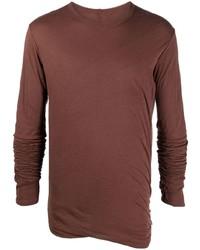 Camiseta de manga larga marrón de Rick Owens