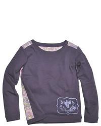 Camiseta de manga larga morado oscuro