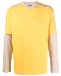 Camiseta de manga larga mostaza de Jacquemus