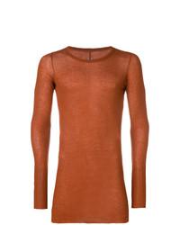 Camiseta de manga larga naranja de Rick Owens
