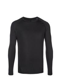 Camiseta de manga larga negra de adidas