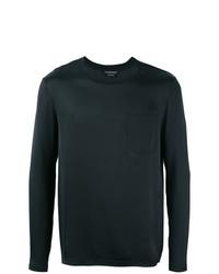 Camiseta de manga larga negra de Alexander McQueen