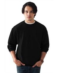 Camiseta de manga larga negra de Anvil