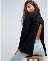 Camiseta de manga larga negra de ASOS DESIGN