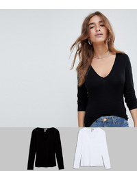 Camiseta de manga larga negra de Asos Petite