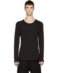 Camiseta de manga larga negra de Attachment