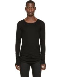Camiseta de manga larga negra de Balmain
