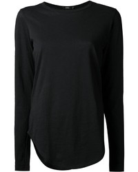 Camiseta de manga larga negra de Bassike