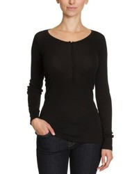 Camiseta de manga larga negra de Blaumax