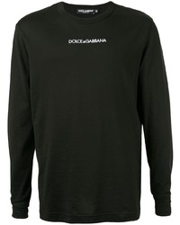 Camiseta de manga larga negra de Dolce & Gabbana