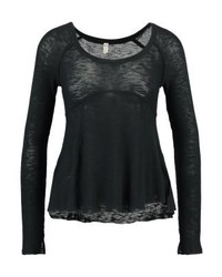 Camiseta de Manga Larga Negra de Free People