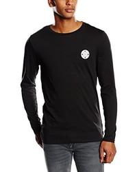 Camiseta de manga larga negra de Jack & Jones