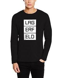 Camiseta de manga larga negra de LAGERFELD