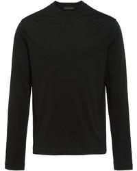 Camiseta de manga larga negra de Prada