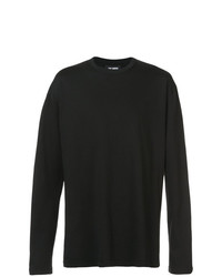 Camiseta de manga larga negra de Raf Simons