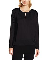 Camiseta de manga larga negra de René Lezard