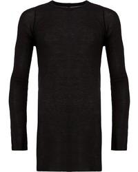 Camiseta de manga larga negra de Rick Owens