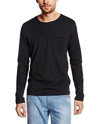 Camiseta de manga larga negra de Selected Homme