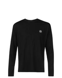Camiseta de manga larga negra de Stone Island