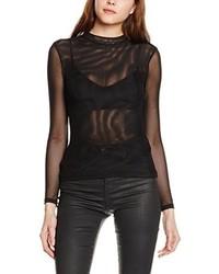 Camiseta de manga larga negra de Tally Weijl