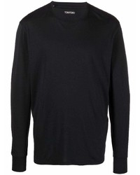 Camiseta de manga larga negra de Tom Ford
