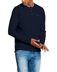 Camiseta de manga larga negra de Tommy Hiliger