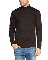 Camiseta de manga larga negra de Trigema