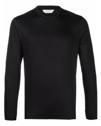 Camiseta de manga larga negra de Z Zegna