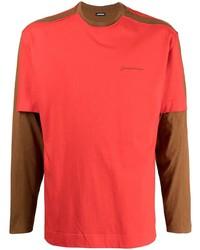 Camiseta de manga larga roja de Jacquemus